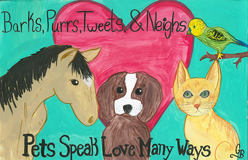 2018 National Pet Week Poster Contest Winner AVMA Auxillary